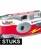2x wegwerp cameras met flitser trend