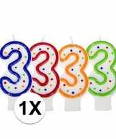 3 jaar verjaardagskaars trend