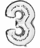 3 jaar versiering cijfer ballon trend