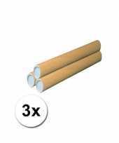 3 kokers van karton voor handwerkjes 64 cm trend