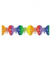 3 meter lange slinger met gekleurde maskers trend
