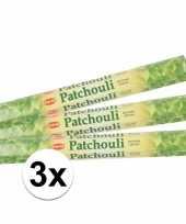 3 pakjes wierook stokjes patchouli trend
