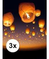 3 stuks voordeel wensballonnen 50 x 100 cm trend