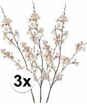 3 x roze kersenbloesem kunstbloemen tak 105 cm trend