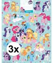 3 x stickervellen my little pony groot trend