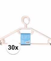 30x plastic kledinghangers wit trend