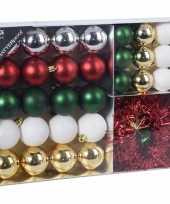 32x klassieke kerst kerstballen 4 5 8 cm kunststof mat glans gli trend