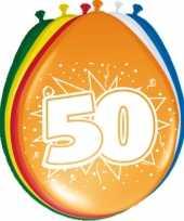 32x stuks ballonnen versiering 50 jaar thema feestartikelen trend