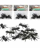 36x horror decoratie mieren van plastic 5 cm trend