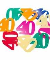 36x mega confetti 40 jaar gekleurd trend