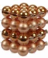 36x oranje glazen kerstballen 4 cm mat glans trend