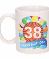 38e verjaardag cadeau beker mok 300 ml trend
