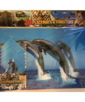3d dolfijnen placemats en onderzetters trend