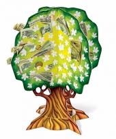 3d geldboom van karton trend