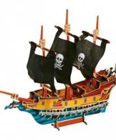 3d piraten puzzels van hout 89 stukjes trend