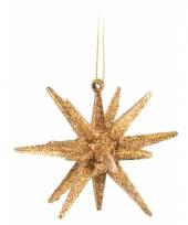 3d ster goud met glitters 7 cm trend