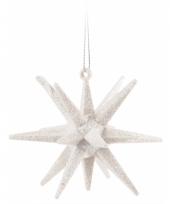 3d ster wit met glitters 7 cm trend