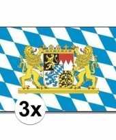 3x beieren vlaggen blauw wit trend