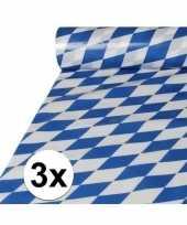 3x beierse tafelkleden van plastic op rol 20 x 1 meter trend
