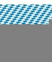 3x blauw met wit tafelkleden van 80x260 cm trend