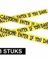 3x caution decoratielint geel 6 meter trend