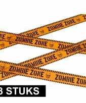 3x caution decoratielint oranje 6 meter trend
