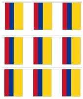 3x colombia vlaggenlijn van stof 3 m trend