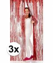 3x disco folie deurgordijnen rood trend