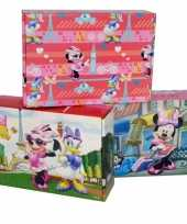 3x disney minnie katrien opbergboxen opbergdozen van karton trend