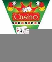 3x feestdecoratie vlaggenlijnen casino trend
