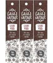 3x gaias incense luxe wierook stokjes cedarwood geur trend
