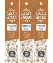 3x gaias incense luxe wierook stokjes kaneel geur trend
