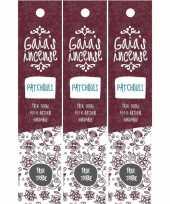 3x gaias incense luxe wierook stokjes patchouli geur trend