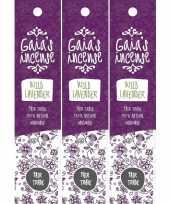 3x gaias incense luxe wierook stokjes wilde lavendel geur trend
