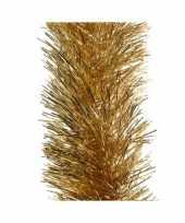 3x gouden kerstslingers 10 cm breed x 270 cm kerstboomversiering trend