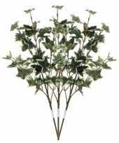 3x groen geelbonte hedera klimop kunsttakken kunstplanten 50 cm trend