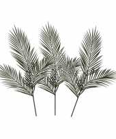3x groene areca goudpalm kunsttakken kunstplanten 199 cm trend