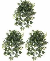 3x groene hedera helix klimop kunstplanten 65 cm voor buiten trend