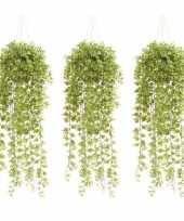3x groene hedera klimop kunstplanten 50 cm in pot trend