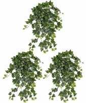 3x groene witte hedera helix klimop kunstplant 65 cm voor buiten trend