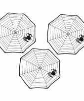 3x halloween spinnenwebben 40 x 40 cm trend
