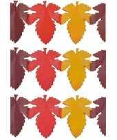 3x herfstbladen decoratie slinger trend