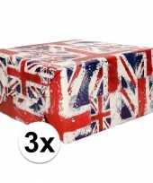 3x inpakpapier union jack 200 x 70 cm op rol trend