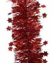 3x kerst rode sterren kerstslingers 10 x 270 cm kerstboom trend