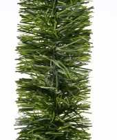 3x kerstslinger guirlande groen 270 cm trend