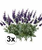 3x lavendel kunstbloemen tak 45 cm trend
