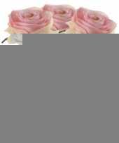 3x licht roze rozen simone kunstbloemen 45 cm trend