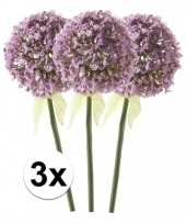 3x lila sierui kunstbloemen 70 cm trend