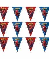 3x marvel spiderman themafeest vlaggenlijnen 230 cm trend
