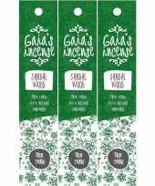 3x pakje gaias incense luxe wierook stokjes sandelhout geur trend